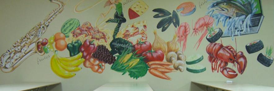 """Murale: """" Manger santé"""""""