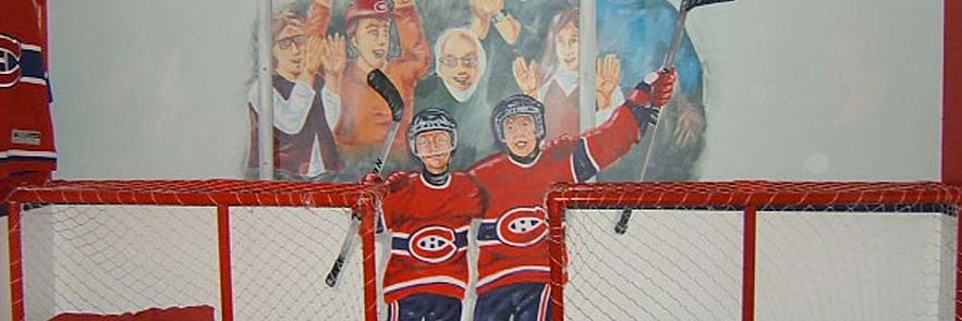 Chambre d'enfants hockeyeurs