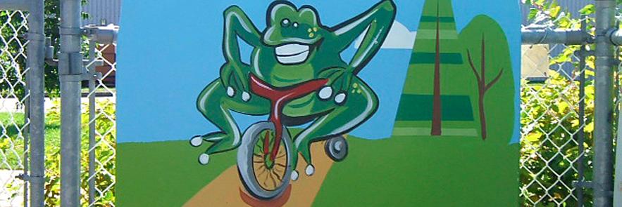 Panneau illustré Centre de petite enfance de Beaupré