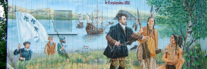Fresque de Jacques Cartier Vignoble Isle de Bacchus