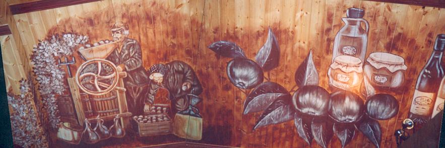 Fresque au plafond Cidrerie Bilodeau