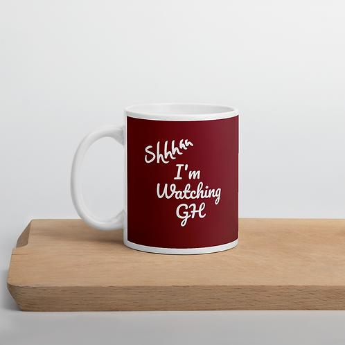SHHH I'm Watching GH Mug Red