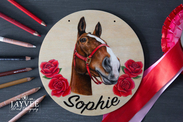Sophie, plywood 20cm, extra imagery