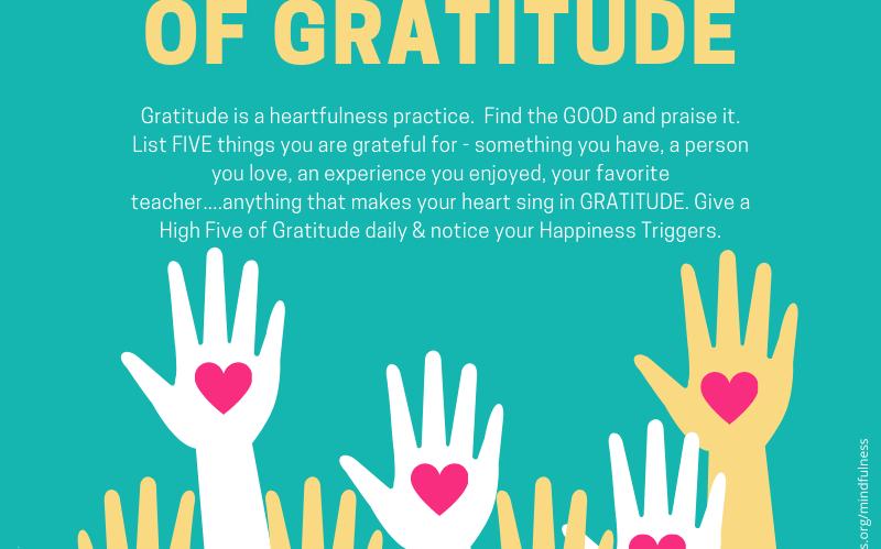 High Five of Gratitude