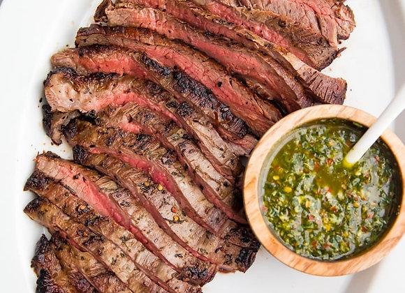 Flat Iron Steak w/ Chimichurri, Roasted Potato, Broccoli