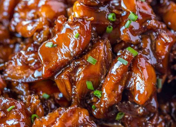 Orange Bourbon Chicken and Rice