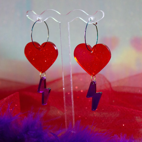 Electric Hearts - Red/Purple