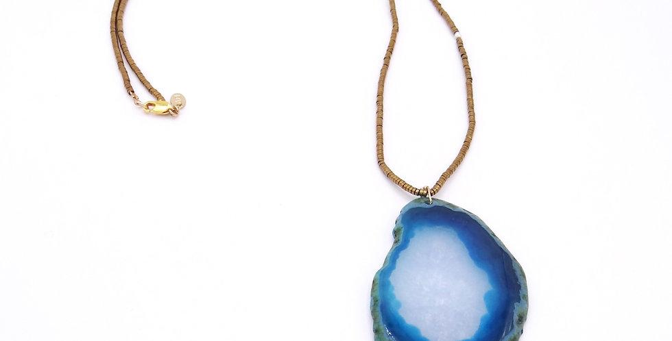 Collier sautoir Agathe Turquoise