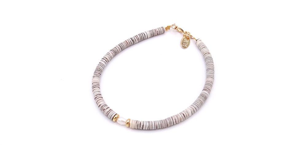 Bracelet Heishi Grey