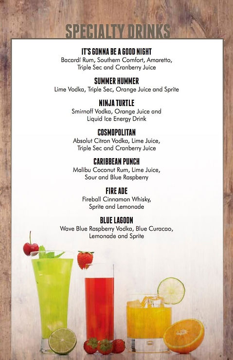 Drinks Menu 5