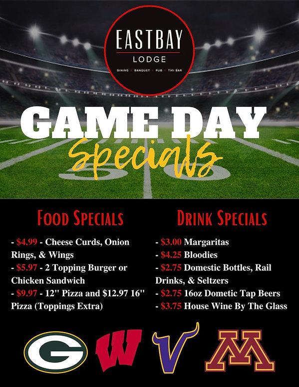 Gameday Specials