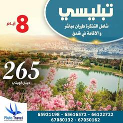 تبليسي * شهر 7 / 2021 - 8 أيام - 265 دينار