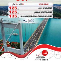 اسطنبول * شهر 2 / 2021 - 6 أيام - ابتداء من 125 دينار