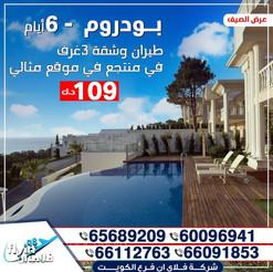 بودروم * الصيف / 2021 - 6 أيام - 109 دينار
