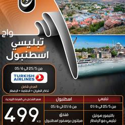 تبليسي - اسطنبول * شهر 5 / 2021 - 12 يوم - 499 دينار
