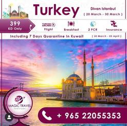 تركيا * شهر 3 / 2021 - 11 يوم - 399 دينار