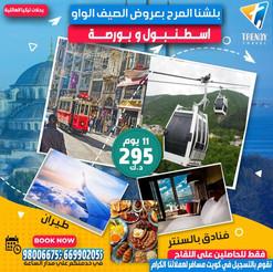 اسطنبول وبورصة * عروض الصيف / 2021 - 11 يوم - 295 دينار