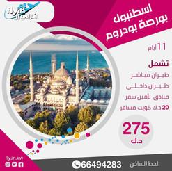 تركيا * شهر 8 / 2021 - 11 يوم - 275 دينار