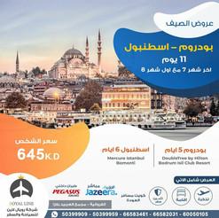 بودروم - اسطنبول * شهر 7 / 2021 - 11 يوم - 645 دينار