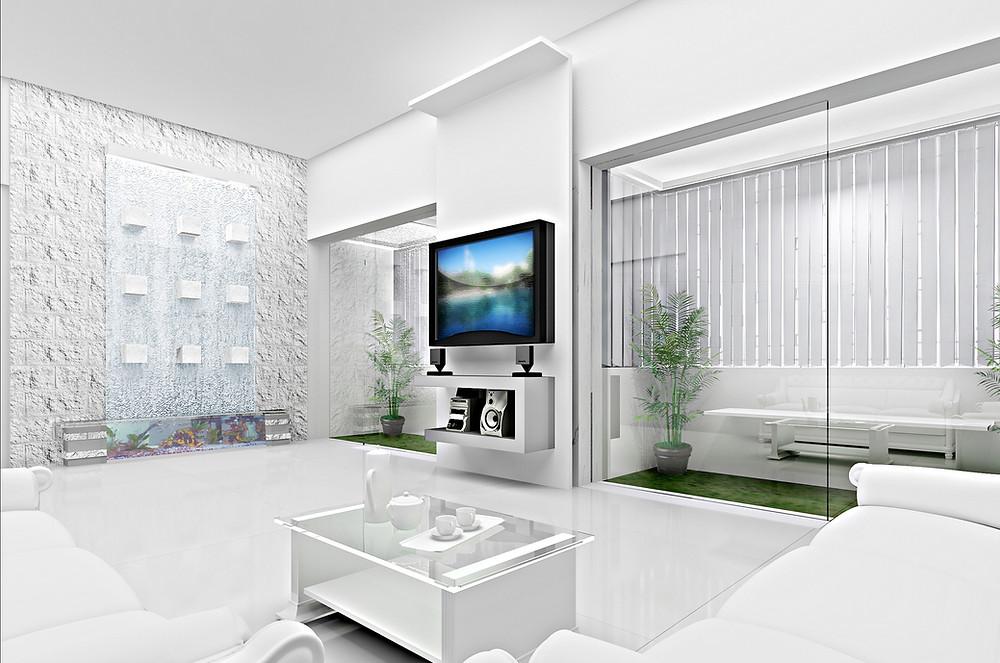 cork spray living room
