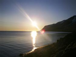 Sunset in summer.