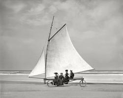 Sand sailing