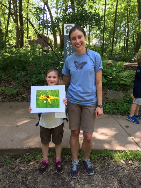 Heather's daughter, Katie, with Krista, a WNC naturalist, during a summer program called Nature Photography.