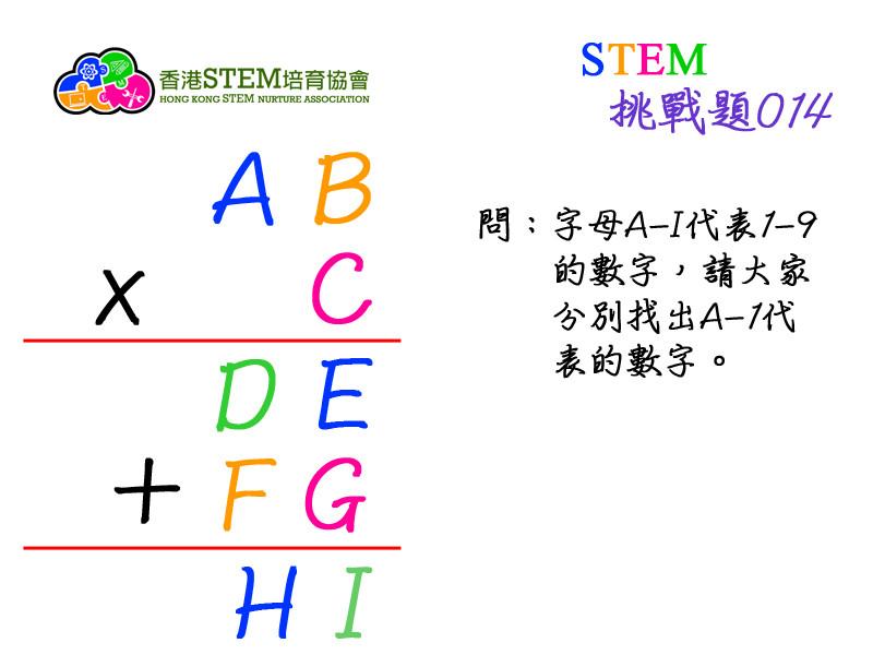STEM挑戰題014問題