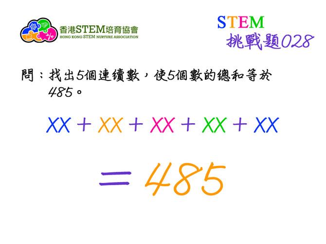 STEM挑戰題028