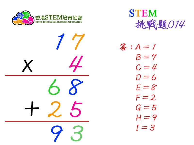 STEM挑戰題014答案