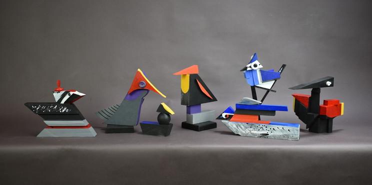 Cubist Birds detail
