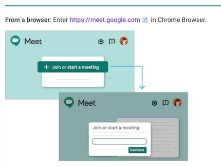 Hangouts Meet Cheat Sheet