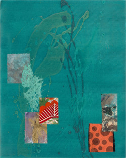 Shards 1, 2020 (20x16 inches) - Mixed media and Japanese Washi on canvas