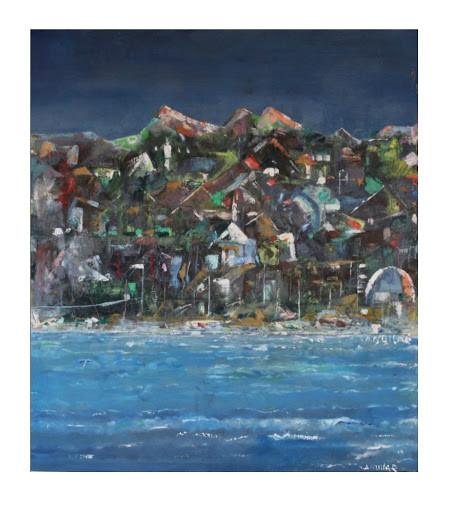 Acrylic oil painting on cavas 35.4*31.4 (Inches)