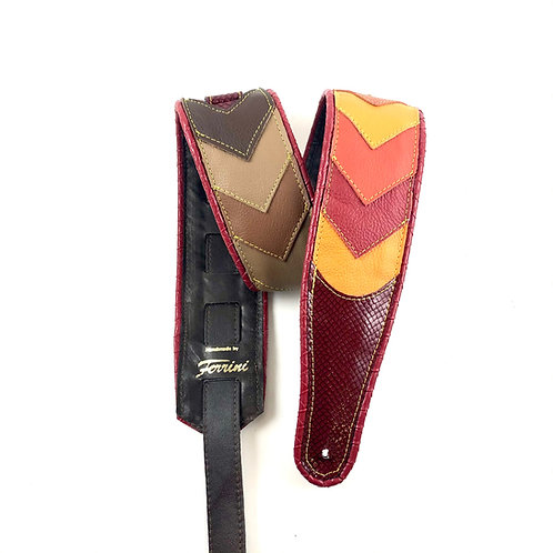 Guitar strap 70ties retro multi colored