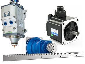 g3015a fiber lézervágó gép alkatrészek, szervmotor, alumínium főtengely gerenda, lézerfej