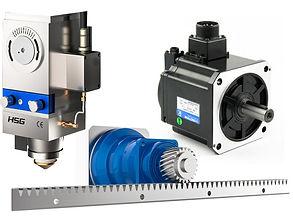 g3015c fiber lézervágó alkatrészek, szervmotor, x tengely gerenda és lézerfej