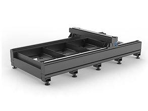 Fekete G3015C fiber lézervágó gép asztalváza