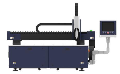 XLASE G3015C fiber lézervágó gép oldalnézetben a vezérlőpulttal