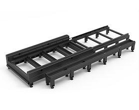 G3015E-22q/35q fiber lézervágó fekete asztalváza