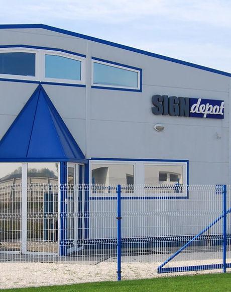 Signdepot Europe Kft. mgyarországi bemutatótermének épülete