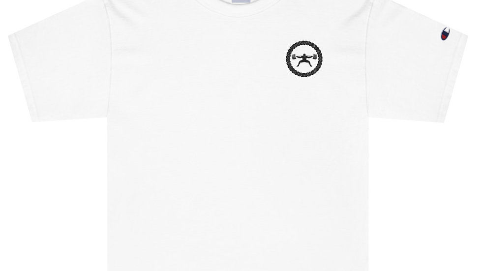 Champion T-Shirt - Black Stitch Logo