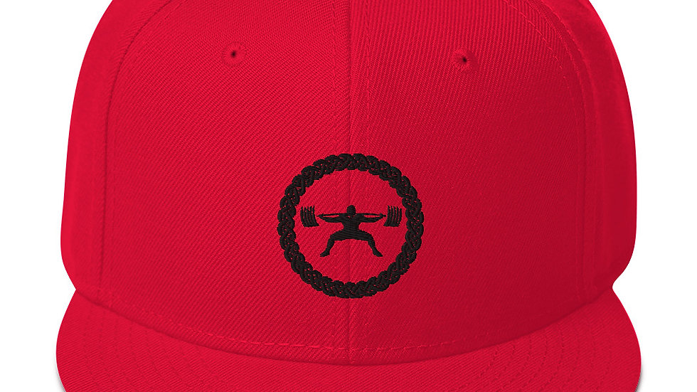Snapback Hat - Black Logo