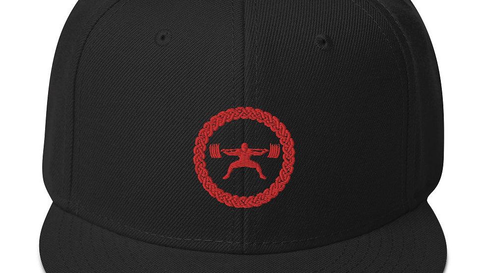 Snapback Hat - Red Stitch Logo
