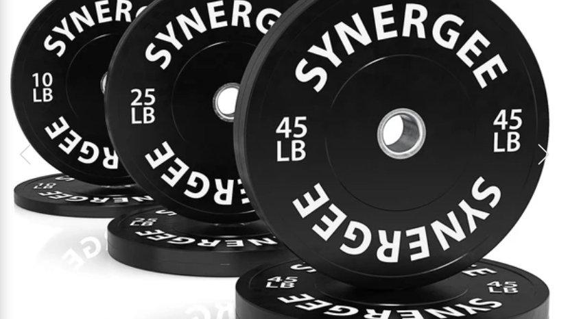 Synergee Bumper Plates - 260lb Set