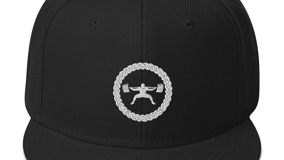Snapback Hat - White Stitch Logo