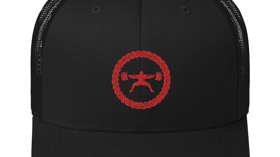 Mesh Trucker Hat - Red Stitch Logo