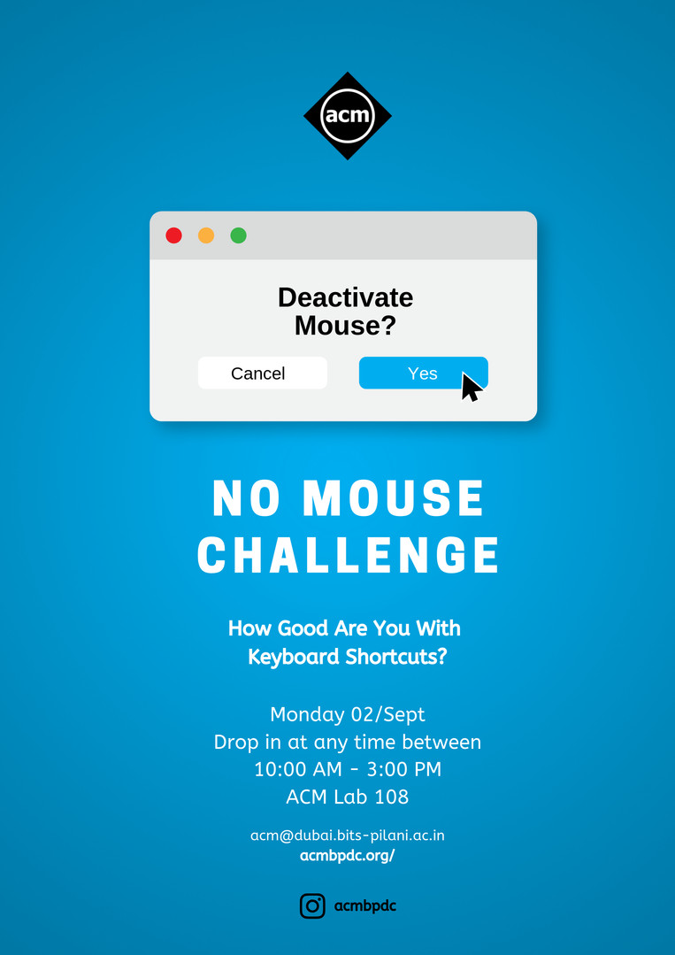No Mouse Challenge