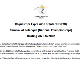 Want to Host the Carnival of Petanque next Triennium?