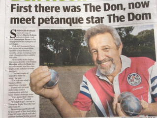 Dom's success hits the papers.